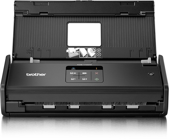 Brother Professional Compact Document Scanner (Wireless & Duplex) ADS-1100W