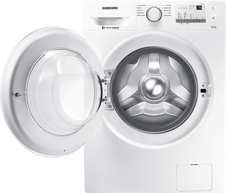 Samsung 8 kg Fully-Automatic Front Loading Washing Machine (WW80J3237KW)