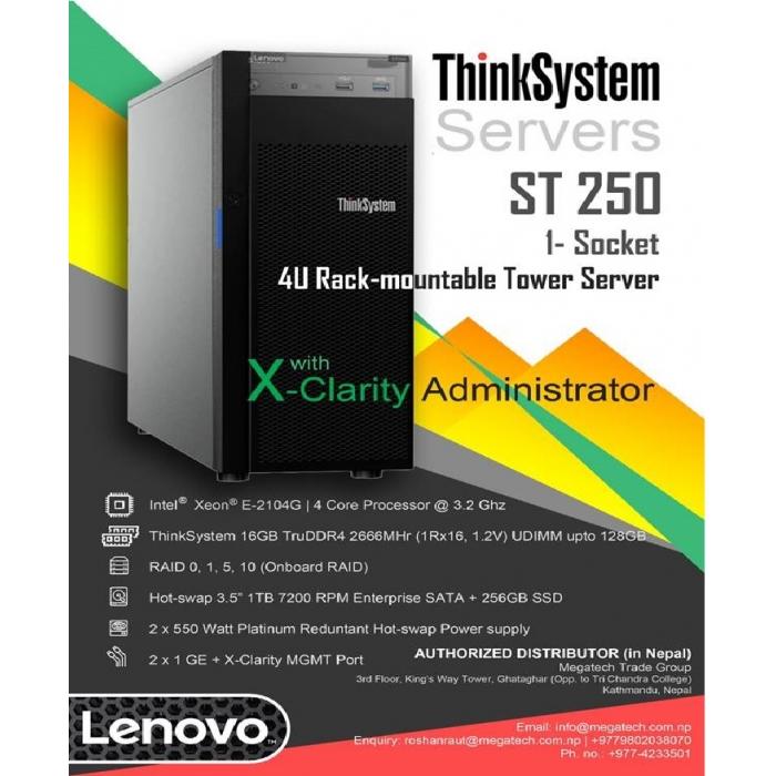Lenovo ThinkSystem ST-250 server