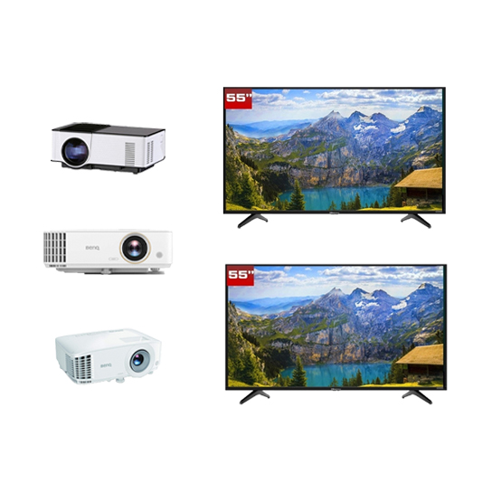 TV and Projector